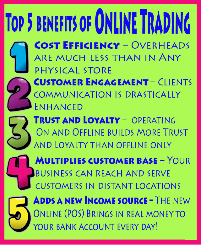 Top 5 benefits of online trading