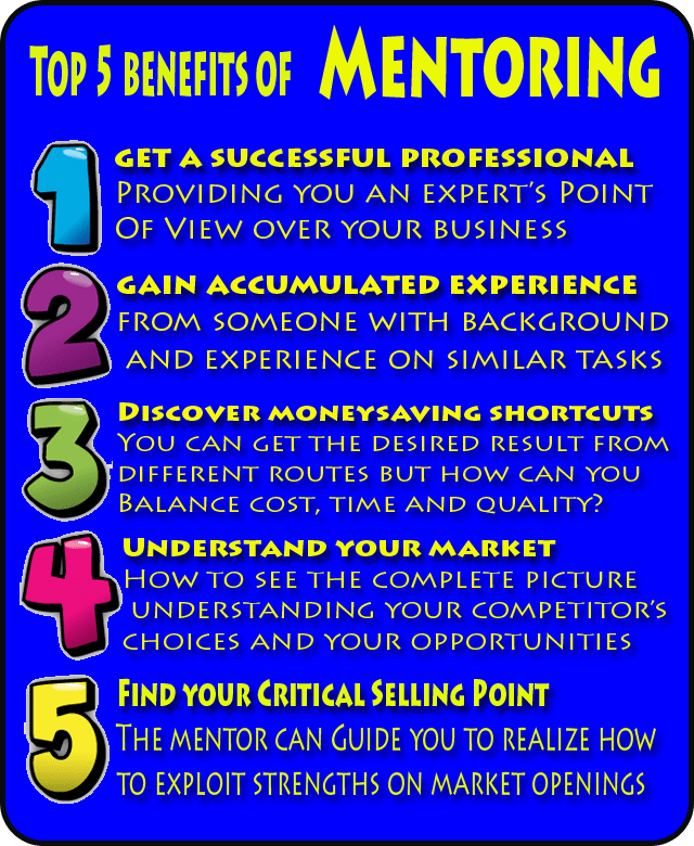 Top 5 benefits of Business Mentoring